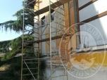 Immagine di PONTEGGIO IN ACCIAIO ZINCATO, SU RUOTE, DI CIRCA 6 m D'ALTEZZA