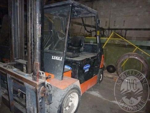 Carrello elevatore elettrico marca LUGLI modello EHXR60 portata 60 ql anno 2000