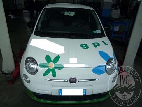 AUTOVETTURA MARCA FIAT MODELLO 500, ANNO 2008. BENZINA/GPL